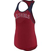 Nike Women's Los Angeles Angels Dri-FIT Red Wordmark Tank Top