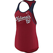 Nike Women's Washington Nationals Dri-FIT Red Wordmark Tank Top