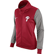 Nike Women's Philadelphia Phillies Red/Grey Full-Zip Track Jacket