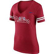 Nike Women's Philadelphia Phillies Fan Red V-Neck Shirt