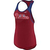 Nike Women's Philadelphia Phillies Dri-FIT Red Wordmark Tank Top