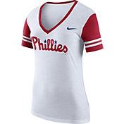Nike Women's Philadelphia Phillies Fan White V-Neck Shirt