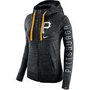 Nike Women's Pittsburgh Pirates Vintage Black Full-Zip Hoodie