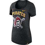 Nike Women's Pittsburgh Pirates Marled Black Boyfriend Scoop Neck T-Shirt