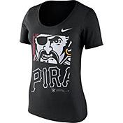 Nike Women's Pittsburgh Pirates Black Scoop Neck T-Shirt