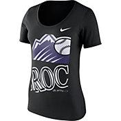 Nike Women's Colorado Rockies Black Scoop Neck T-Shirt