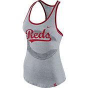 Nike Women's Cincinnati Reds Marled Grey Tank Top
