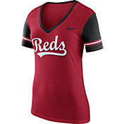 Nike Women's Cincinnati Reds Fan Red V-Neck Shirt