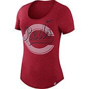 Nike Women's Cincinnati Reds Dri-Blend Red Burnout T-Shirt