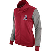 Nike Women's Boston Red Sox Red/Grey Full-Zip Track Jacket