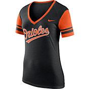 Nike Women's Baltimore Orioles Fan Black V-Neck Shirt
