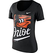 Nike Women's Baltimore Orioles Black Scoop Neck T-Shirt