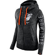 Nike Women's Baltimore Orioles Vintage Black Full-Zip Hoodie