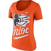 Nike Women's Baltimore Orioles Orange Scoop Neck T-Shirt
