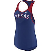 Nike Women's Texas Rangers Dri-FIT Royal Wordmark Tank Top