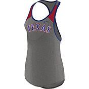 Nike Women's Texas Rangers Dri-FIT Grey Wordmark Tank Top