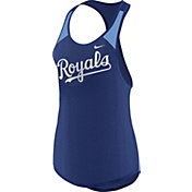 Nike Women's Kansas City Royals Dri-FIT Royal Wordmark Tank Top
