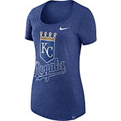 Nike Women's Kansas City Royals Marled Royal Boyfriend Scoop Neck T-Shirt