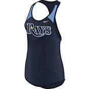 Nike Women's Tampa Bay Rays Dri-FIT Navy Wordmark Tank Top