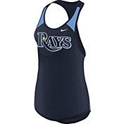 Nike Women's Tampa Bay Rays Dri-FIT Navy Wordmark Tank Top