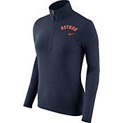 Nike Women's Houston Astros Dri-FIT Navy Element Half-Zip Jacket