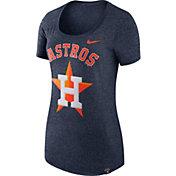 Nike Women's Houston Astros Marled Navy Boyfriend Scoop Neck T-Shirt