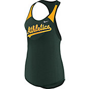 Nike Women's Oakland Athletics Dri-FIT Green Wordmark Tank Top