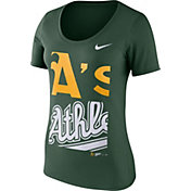Nike Women's Oakland Athletics Green Scoop Neck T-Shirt