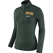 Nike Women's Oakland Athletics Dri-FIT Green Element Half-Zip Jacket