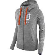Nike Women's Detroit Tigers Vintage Grey Full-Zip Hoodie