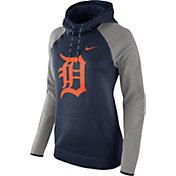 Nike Women's Detroit Tigers Grey Therma Pullover Hoodie