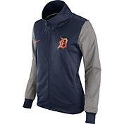 Nike Women's Detroit Tigers Navy/Grey Full-Zip Track Jacket