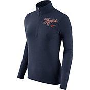 Nike Women's Detroit Tigers Dri-FIT Navy Element Half-Zip Jacket