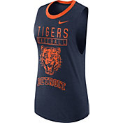 Nike Women's Detroit Tigers Dri-Blend Cooperstown Navy Muscle Tank Top