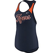 Nike Women's Detroit Tigers Dri-FIT Navy Wordmark Tank Top