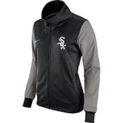 Nike Women's Chicago White Sox Black/Grey Full-Zip Track Jacket