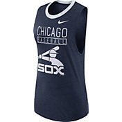Nike Women's Chicago White Sox Dri-Blend Cooperstown Navy Muscle Tank Top