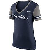Nike Women's New York Yankees Fan Navy V-Neck Shirt