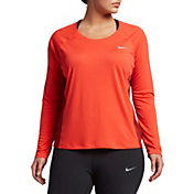 Nike Women's Plus Size Dry Miler Long Sleeve Running Shirt
