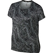 Nike Women's Plus Size Miler Printed T-Shirt