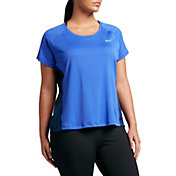 Nike Women's Plus Size Dry Miler Running T-Shirt