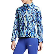 Nike Women's Impossibly Light Geoprism Printed Full Zip Running Jacket