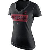 Nike Women's Alabama Crimson Tide Black Dri-Blend Tailgate V-Neck T-Shirt