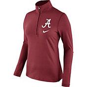 Nike Women's Alabama Crimson Tide Crimson Tailgate Dry Quarter-Zip Shirt