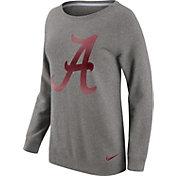 Nike Women's Alabama Crimson Tide Grey Champ Drive Boyfriend Crew Sweatshirt