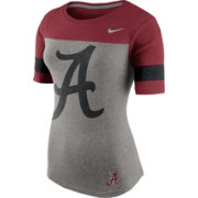 Nike Women's Alabama Crimson Tide Grey/Crimson Championship Drive Football Fan T-Shirt