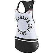 Nike Women's Alabama Crimson Tide White/Black Circle Dri-Blend Tank Top