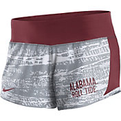 Nike Women's Alabama Crimson Tide White/Crimson Crew Performance Shorts