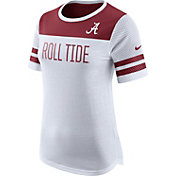 Nike Women's Alabama Crimson Tide White/Crimson Modern Fan T-Shirt