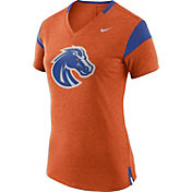 Nike Women's Boise State Broncos Orange/Blue Fan V-Neck T-Shirt
